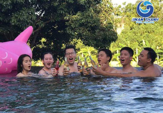 Công trình bể bơi Homestay Yên Bái Garden