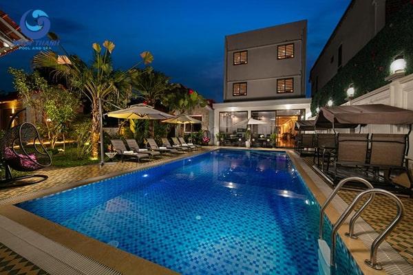 Thiết kế bể bơi khách sạn - Ảnh 1