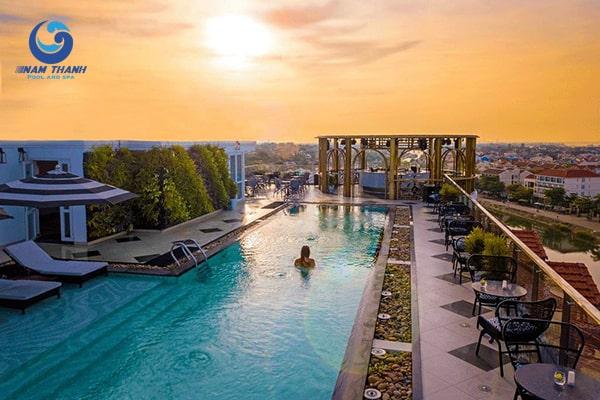 Thiết kế bể bơi khách sạn - Ảnh 4