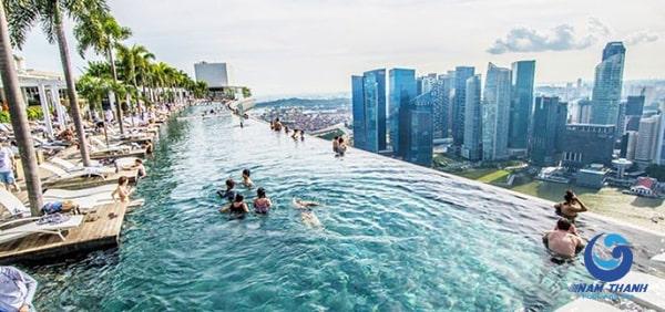 Thiết kế bể bơi trên sân thượng - Ảnh 8