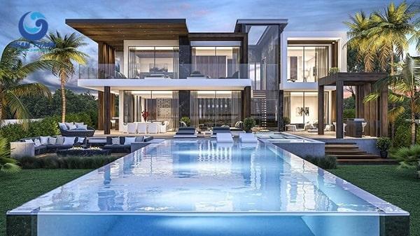Thiết kế biệt thự có bể bơi - Ảnh 1