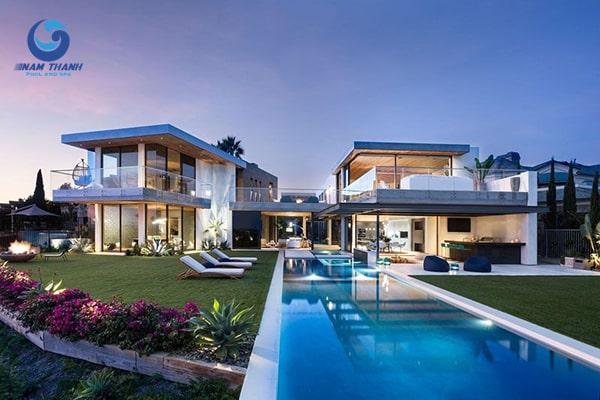 Thiết kế biệt thự có bể bơi - Ảnh 2