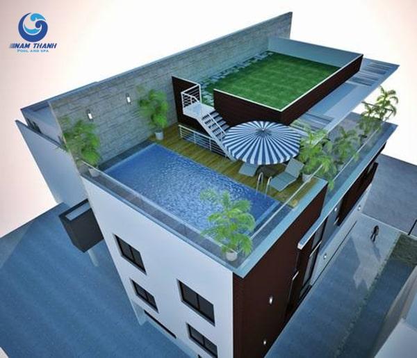 Thiết kế biệt thự có bể bơi - Ảnh 4
