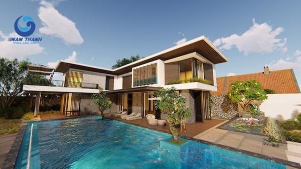 Thiết kế biệt thự có bể bơi - Ảnh 6