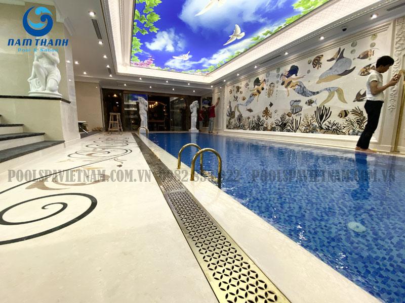 thiết kế thi công bể sục bể bơi anh Hiển Eco green bay