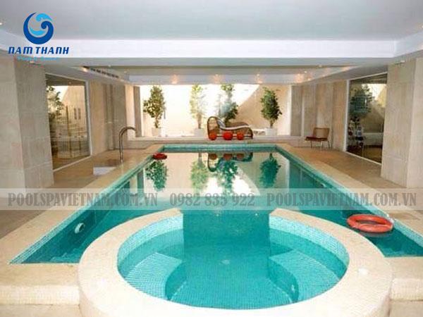 bể bơi trong nhà bể bơi kết hợp bể sục jacuzzi