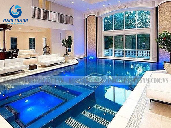 làm bể bơi trong nhà - chất lượng nước bể bơi